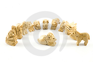 Sheep(Woodcarving Chinese Sign) Stock Photo - Image: 7847570