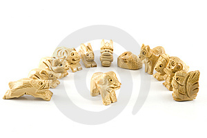 Dog(Woodcarving Chinese Sign) Royalty Free Stock Photography - Image: 7847587