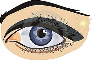 Female Eye On The White Background Stock Photos - Image: 7848043