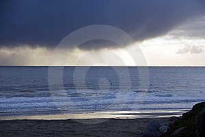 Storm Clouds Over The Ocean Stock Images - Image: 7848374