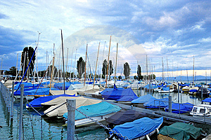 Harbor In Lake Of Constance Ship Boat Blue Sk Royalty Free Stock Photo - Image: 7848585