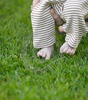 Baby Toes In The Grass Royalty Free Stock Photo - Image: 7848825