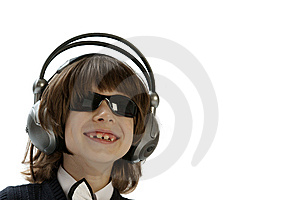 The Boy In Headphones Stock Image - Image: 7849271