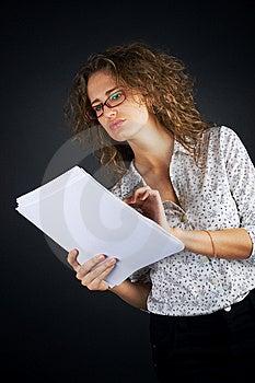 Business Women On Black Background Royalty Free Stock Image - Image: 7849766