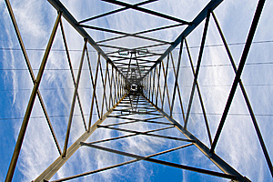 Inside Of Electricity Tower Stock Image - Image: 7849821