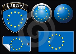 Europe Flag Stock Image - Image: 7851121