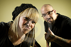 Portrait Of Two People With Tattoos Royalty Free Stock Images - Image: 7852949