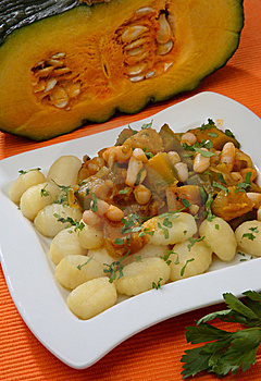 Pumpkin Goulash With Beans Royalty Free Stock Photos - Image: 7854728