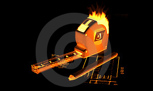 Fire Measing Tape Stock Photos - Image: 7856353