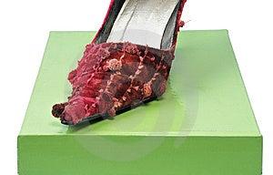 One Woman Shoe Stock Photo - Image: 7857790