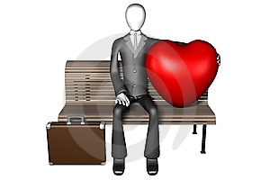 3d Man And His Huge Heart Stock Photo - Image: 7858660