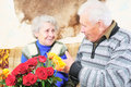 Elderly man with elderly woman Royalty Free Stock Photography