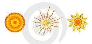 Three Suns Royalty Free Stock Photography - Image: 7860047