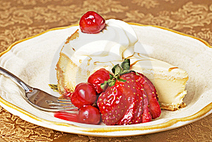 Cherry Cheesecake Royalty Free Stock Images - Image: 7860199