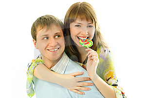 Young Man Giving His Girlfriend Piggyback Ride Royalty Free Stock Photography - Image: 7861347