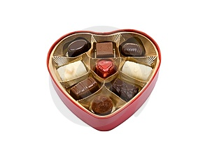 Pralines In Heart Box Royalty Free Stock Photo - Image: 7861695