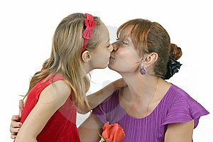 Mothers With The Little Daughter Royalty Free Stock Photography - Image: 7862437
