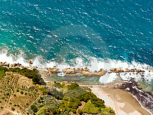 Splashing Waves, Aerial Stock Images - Image: 7862774