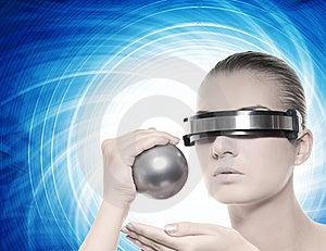 Beautiful Cyber Woman Stock Photo - Image: 7863130