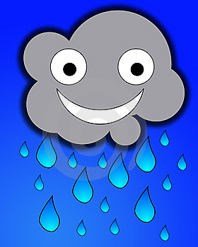 Happy Rain Cloud Royalty Free Stock Photos - Image: 7865398