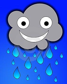 Happy Rain Cloud Royalty Free Stock Photos - Image: 7865398