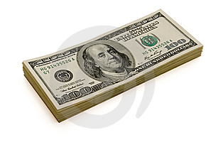 Dollars Isolated Royalty Free Stock Photography - Image: 7866547