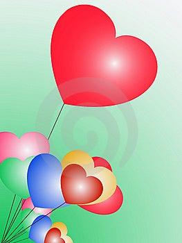 Heart Balloons Royalty Free Stock Photography - Image: 7867887