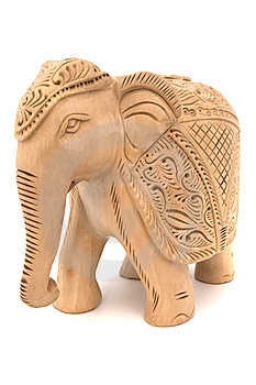 Wooden Elephant Sculpture Royalty Free Stock Images - Image: 7869289