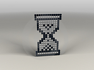 Pixel Hourglass Royalty Free Stock Photos - Image: 7873338