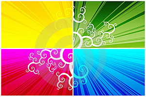 Floral Pattern On Color Background Stock Images - Image: 7873804