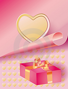 Tender Background With A Heart And Gift Stock Image - Image: 7873911