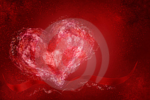 Heart And Ribbons Royalty Free Stock Photos - Image: 7876128