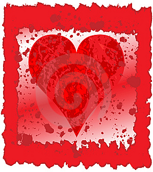 Painted Heart Stock Photo - Image: 7876280