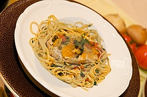 Chicken Pasta Dish With Capers Stock Photos - Image: 7877213