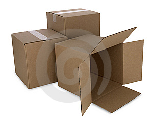Cardboard Boxes With Path Royalty Free Stock Photography - Image: 7877797