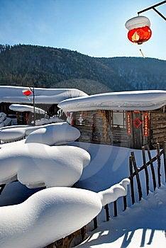 Cabin In Snow Stock Photo - Image: 7878070