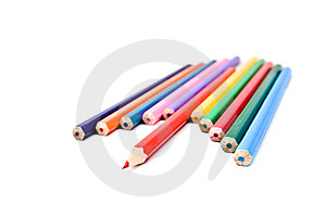 Color Pencils Isolated On White Royalty Free Stock Image - Image: 7880096