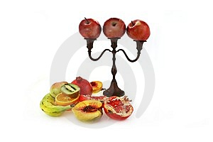 Candlestick With Apples Stock Images - Image: 7881344