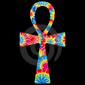 Tie Dyed Ankh Stock Photo - Image: 7882740