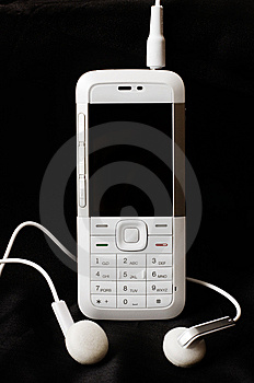 White Mobile Phone Royalty Free Stock Image - Image: 7883196
