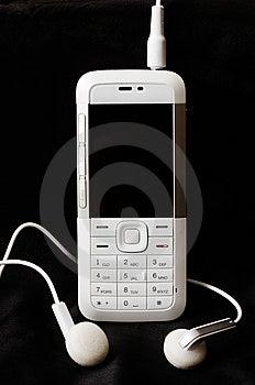 Witte Mobiele Telefoon Royalty-vrije Stock Afbeelding - Afbeelding: 7883196
