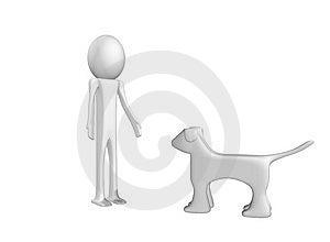 Om Met Hond Te Spelen Stock Foto's - Afbeelding: 7883233