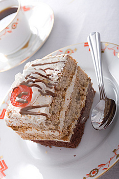 Sweet Cake And Coffee Royalty Free Stock Photos - Image: 7884348