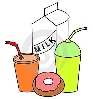Getränk Und Nahrungclipart Stockbild - Bild: 7885121