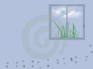 Window Illustration Stock Image - Image: 7885421
