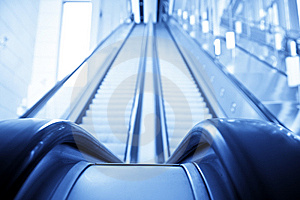 Double Way Escalator Royalty Free Stock Image - Image: 7890076