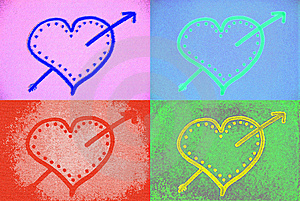 Colorful Hearts Royalty Free Stock Images - Image: 7890619