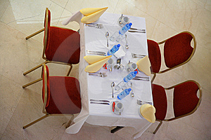 Table In Cafe From Top View Stock Photos - Image: 7890993