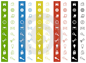 Icons Royalty Free Stock Photography - Image: 7891077