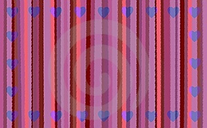 Pink Stripes With Hearts Royalty Free Stock Photos - Image: 7891098